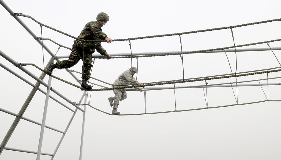 American, British forces join for leadership development