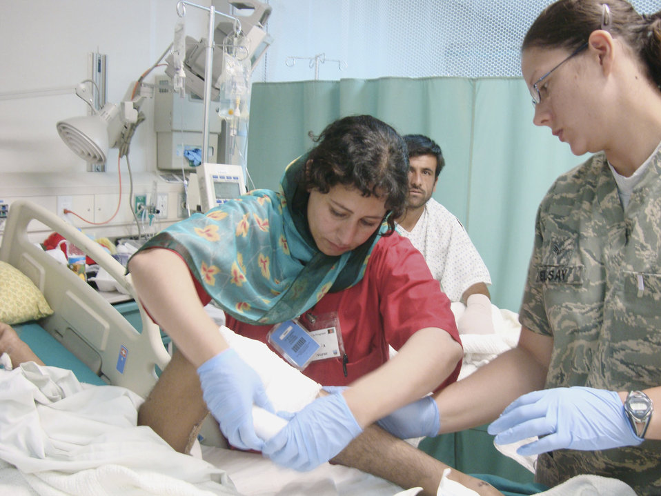Craig Joint Theater Hospital helps build Afghan nursing foundation
