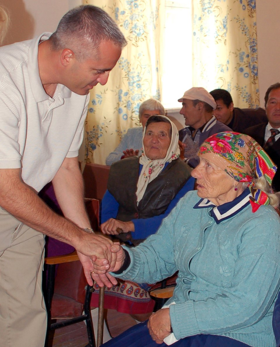Manas Airmen honor village elderly