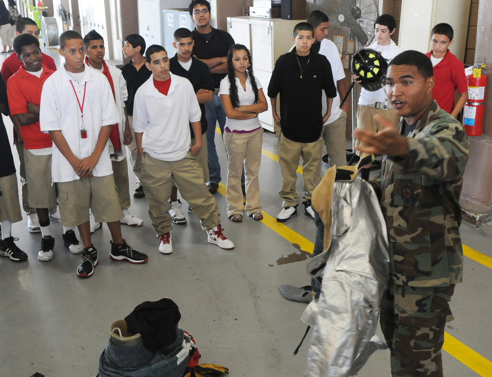 Randolph Airmen expose at-risk students to today's Air Force