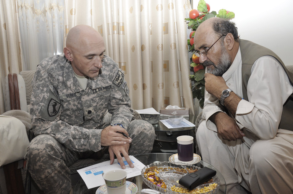 Servicemembers help reconnect Afghan, government