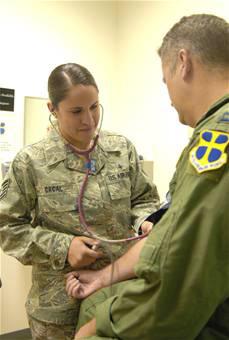 Enlisted Airman diagnoses, treats patients