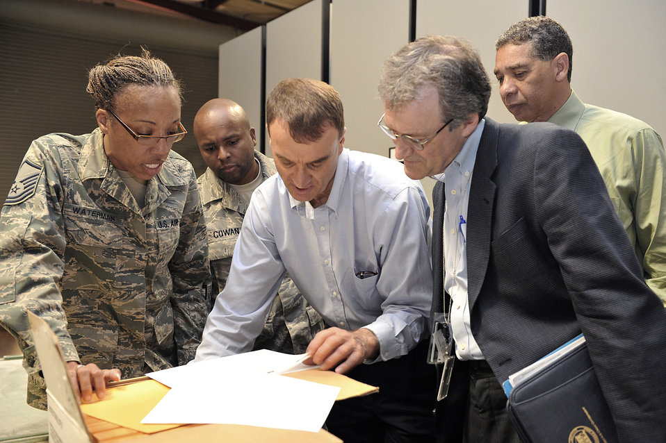 'One of a kind' war records staging facility gets Air Force, national review