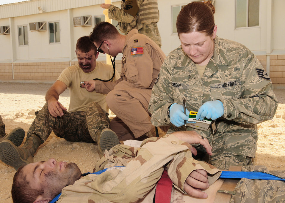 386th AEW conducts dorm fire exercise