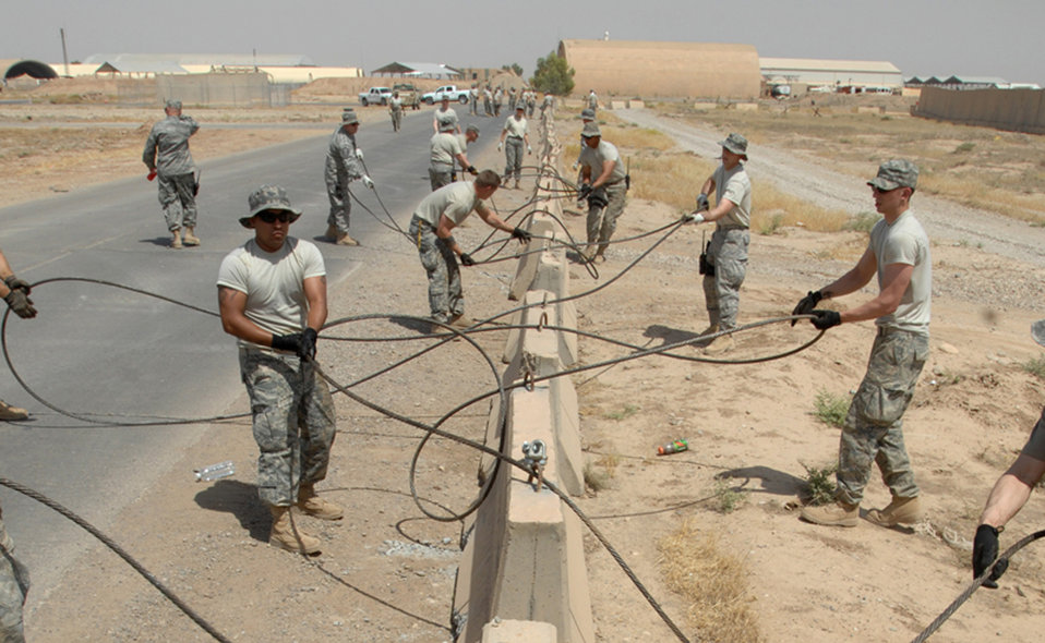 Kirkuk self-help project protects airfield assets, saves money