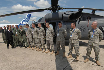 Secretary of the Air Force visit honors memorial and supports Paris Air Show