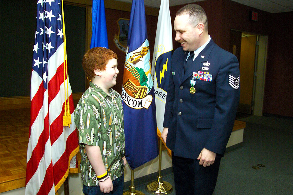 Hanscom children honored with medal