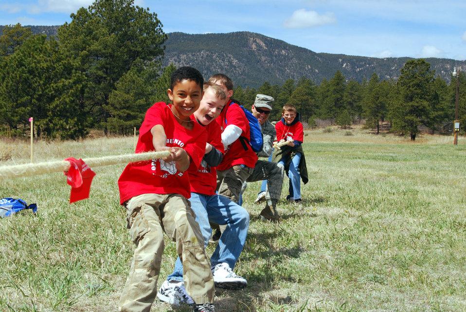 Children 'deploy' to Usafastan