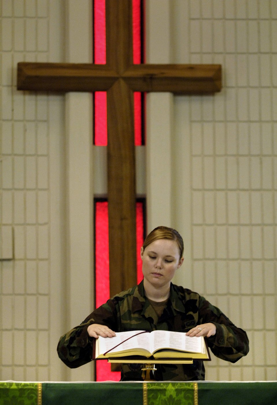 Chapel worker attending ball on Air Force birthday