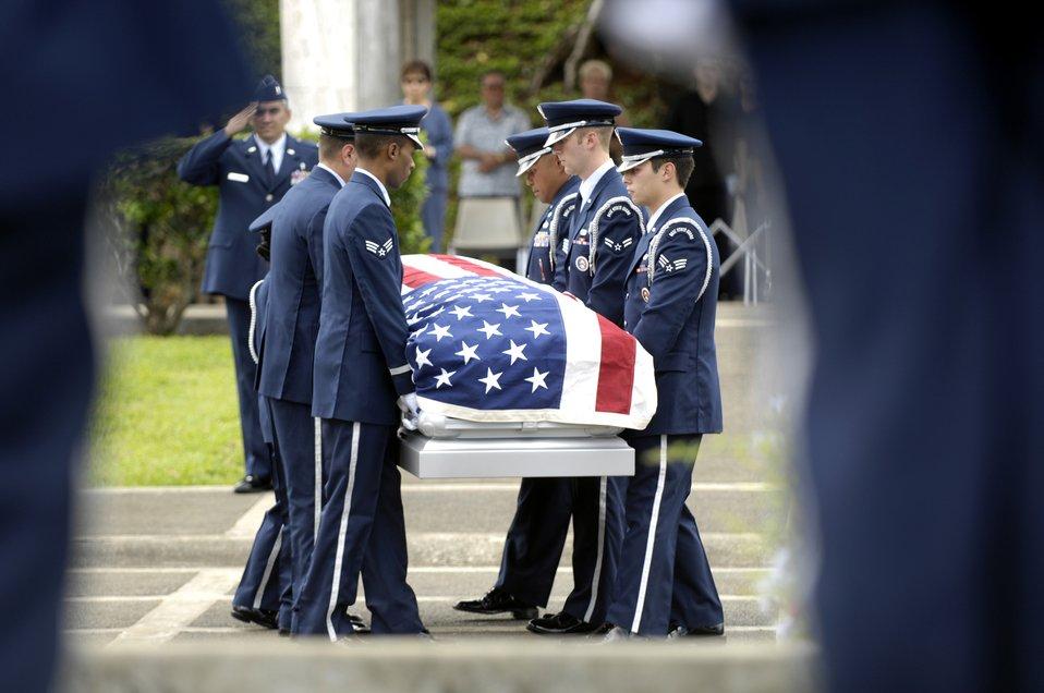 Rendering military honors for a veteran