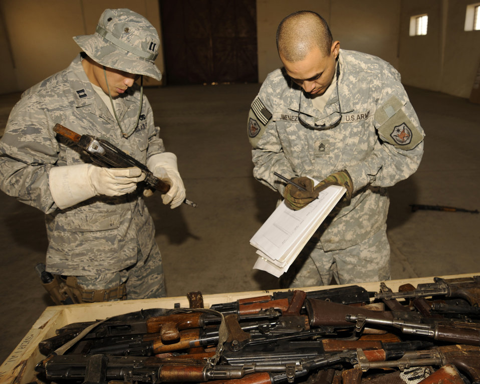 Airman leads team in managing enemy's weapons cache