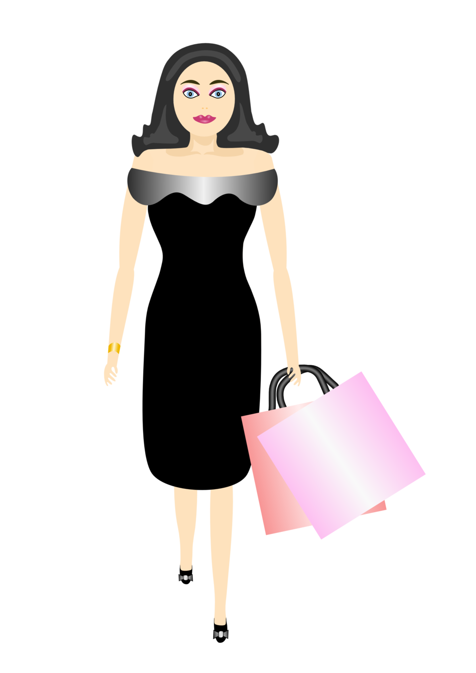 glamour girl shopping