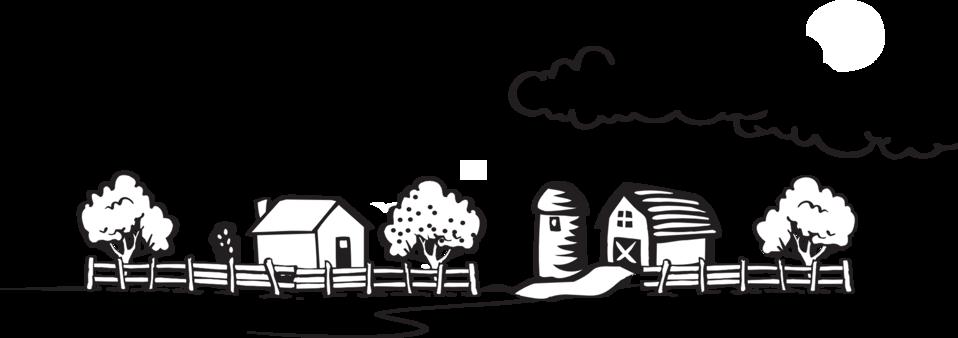 Coloring Book Farm Landscape