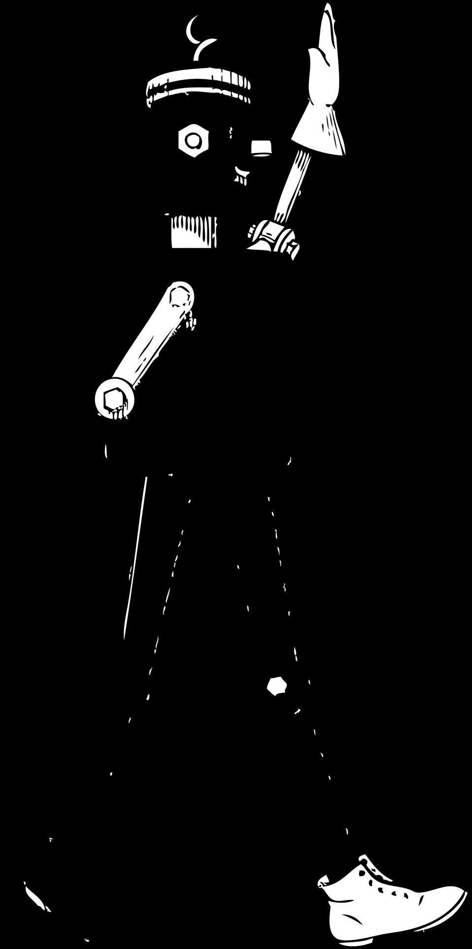 mechanical man side view
