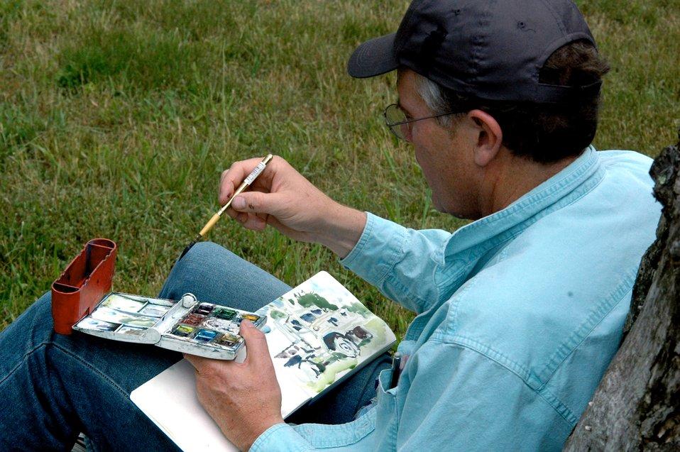 Air Force Art Program artists visit USAF EC