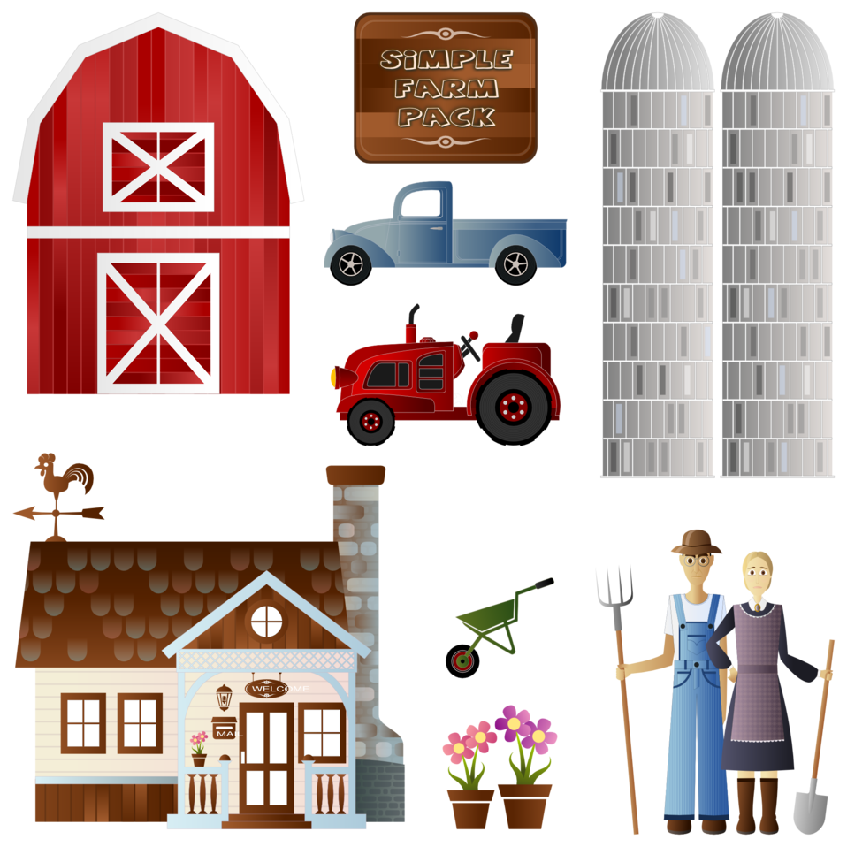 Collection of farm illustrations