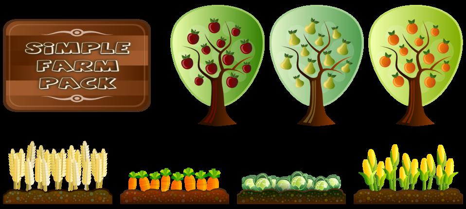 Simple farm crops