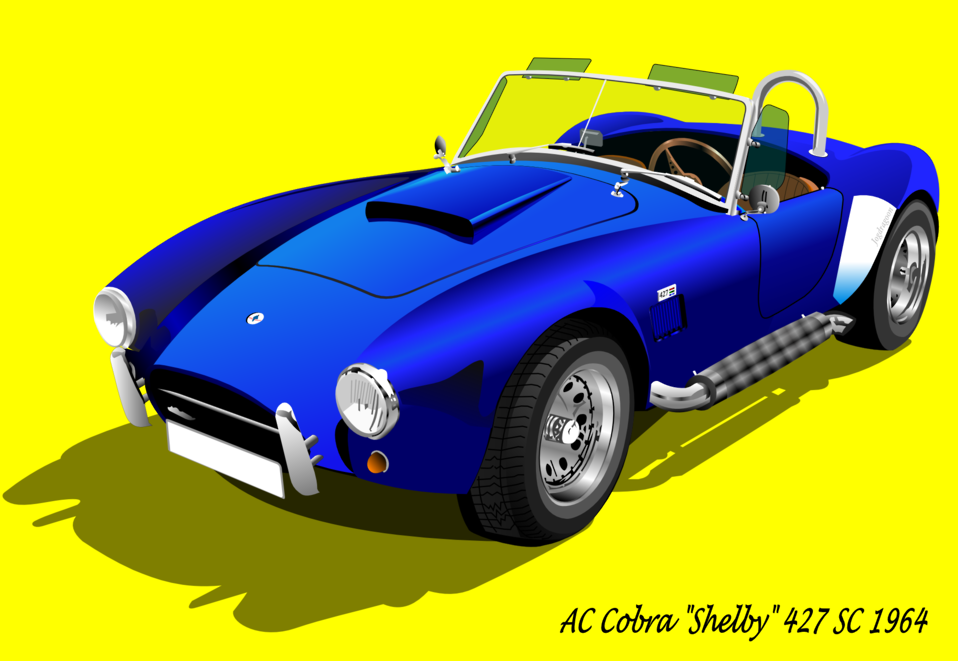 AC Cobra 427 SC 1965 (with background)