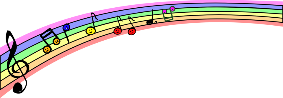Rainbow with music