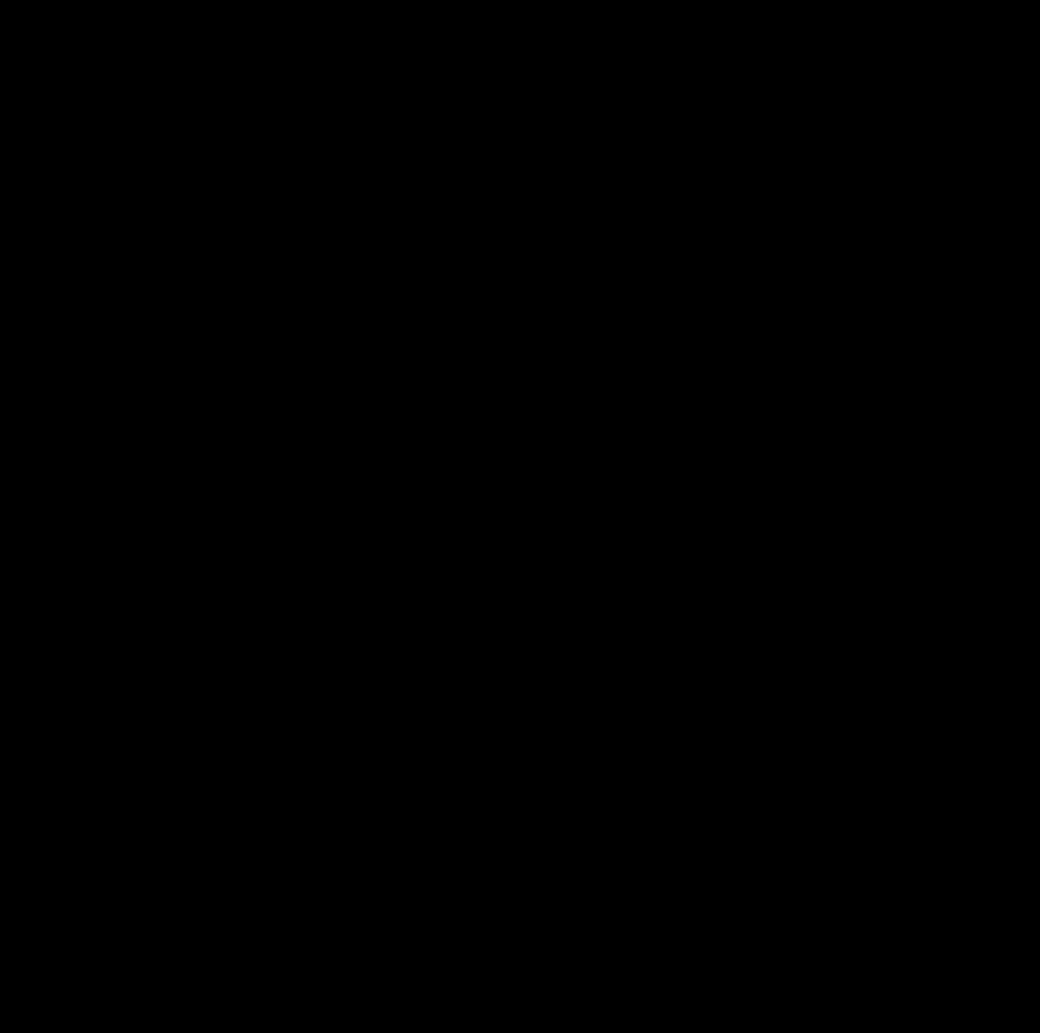 Santa Claus silhouette profile dingbat