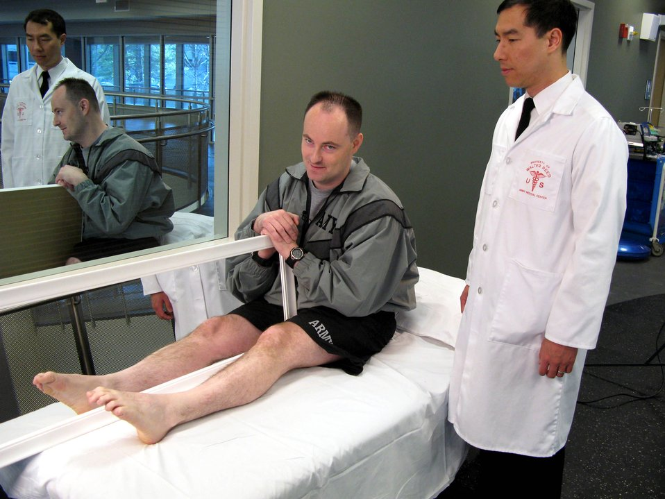 Mirror therapy shows promise in amputee treatment