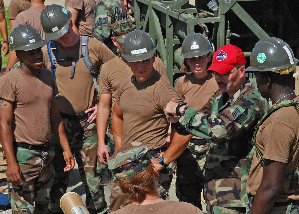 Navy Seabees train with Kadena RED HORSE members