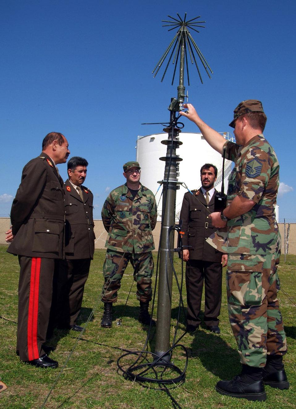 Afghan generals visit Air Force training facilities