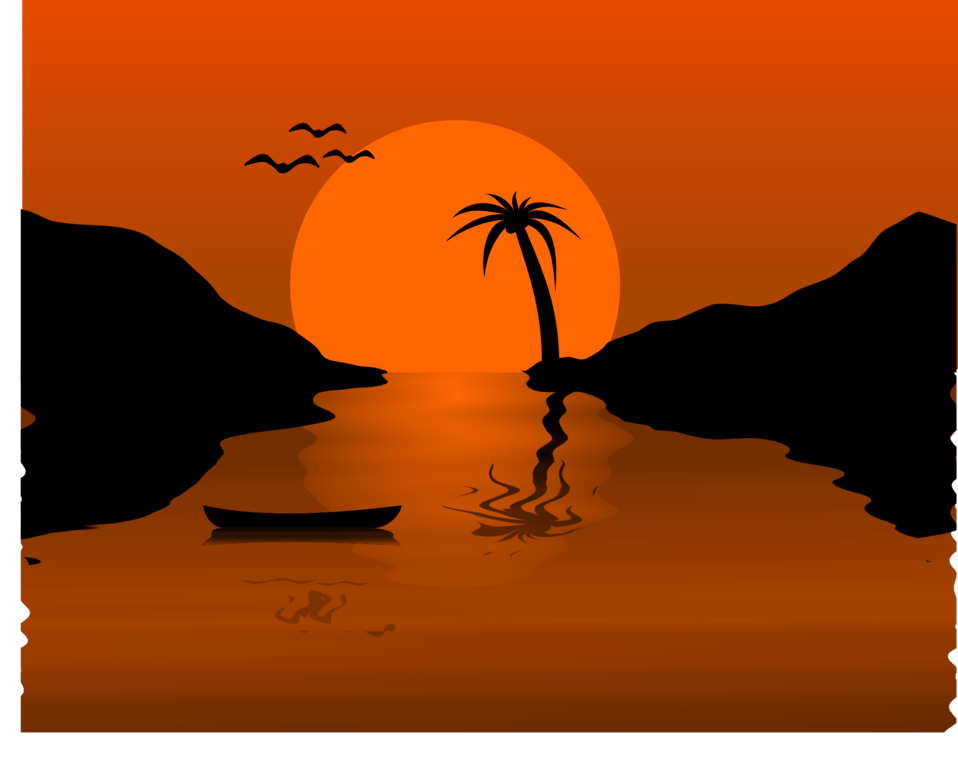Sunset water scene