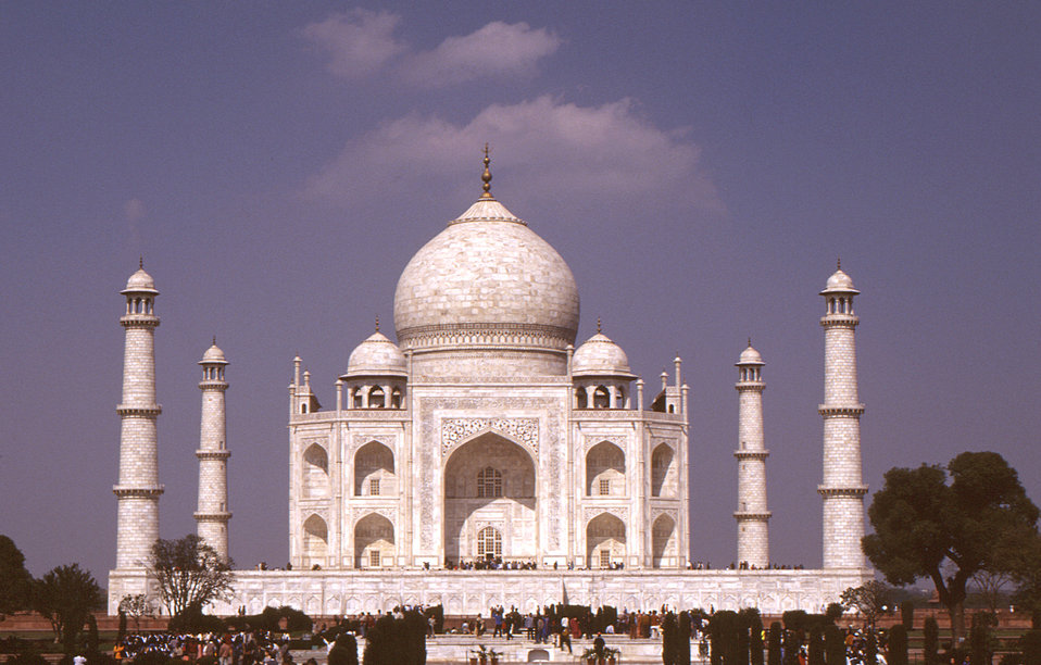 This 2000 image of the Taj Mahal monument in Agra, India, was taken during a 'Stop Transmission of Polio' (STOP) assignment between January