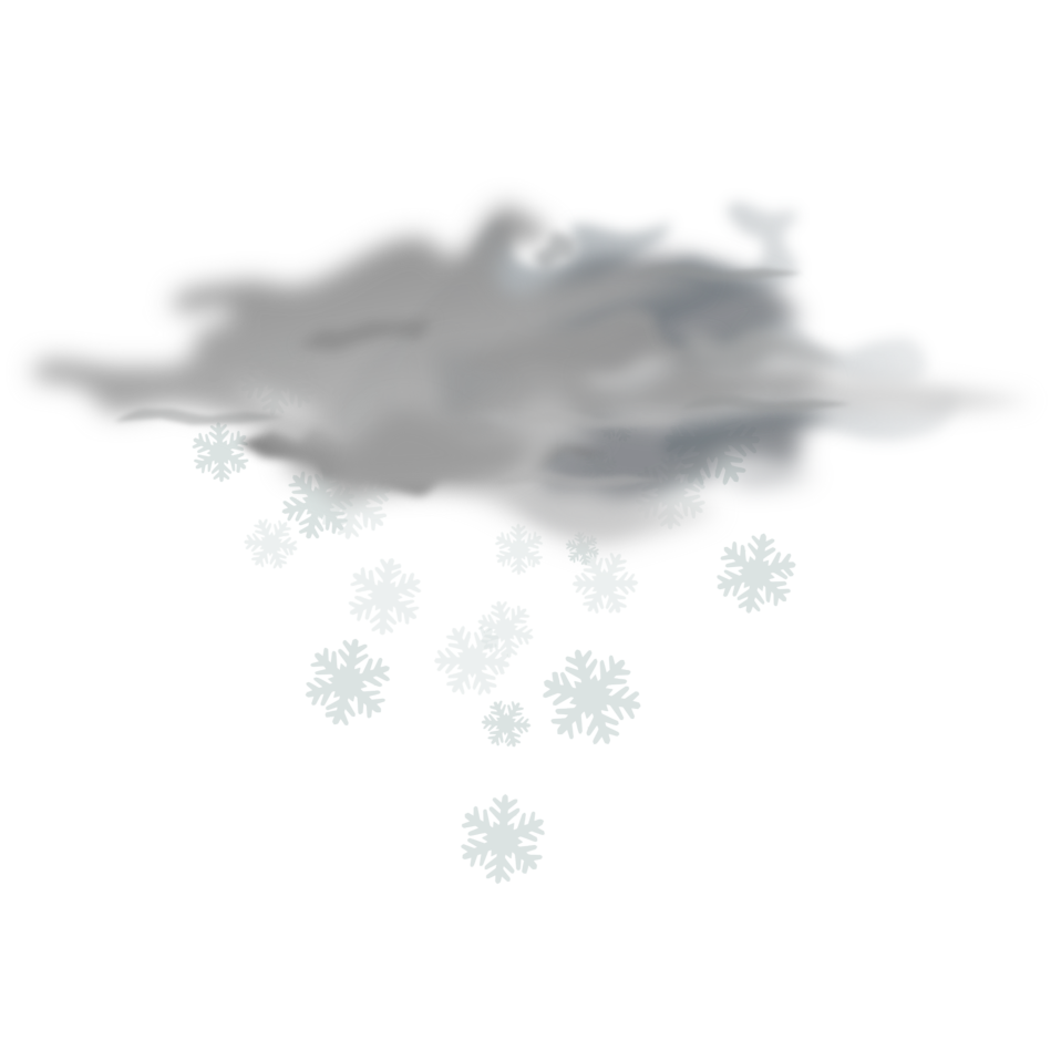 weather icon - snowy