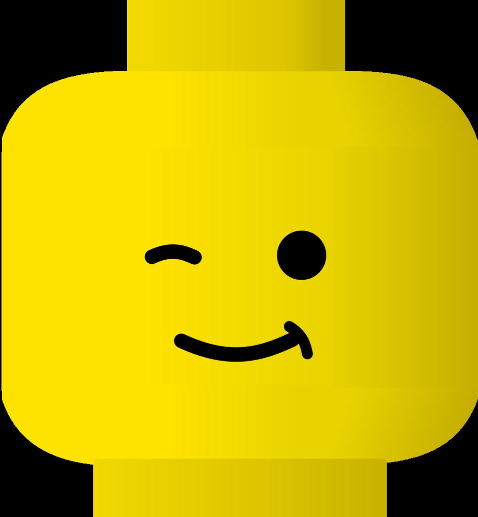 LEGO smiley -- wink
