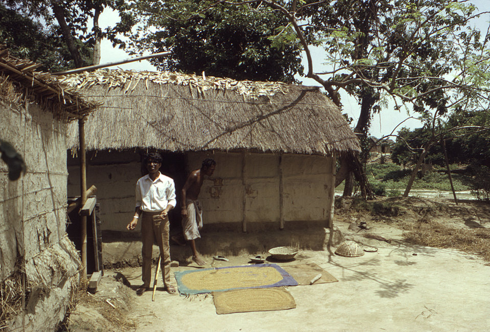This 1974 photograph depicted two Bengali men who were inhabitants of a Bangladesh village. The picture was taken during the smallpox eradic
