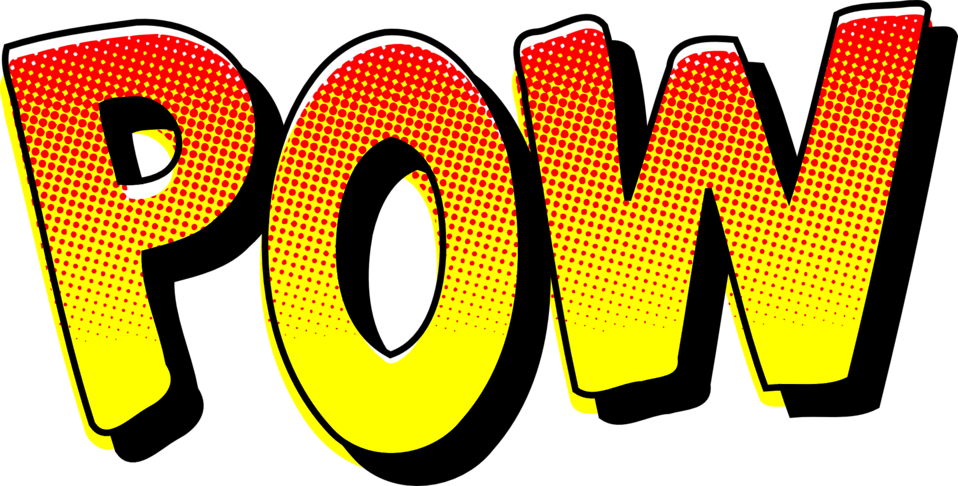 POW vintage comic book sound effect