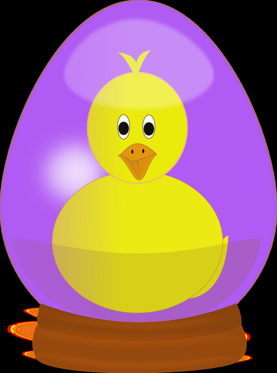 Chick in Easter Egg Globe
