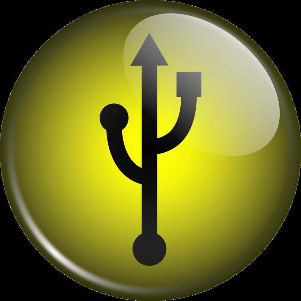 Glassy USB Symbol