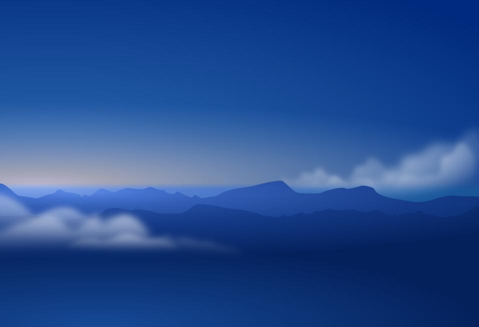 blue horizon silhouette   clouds