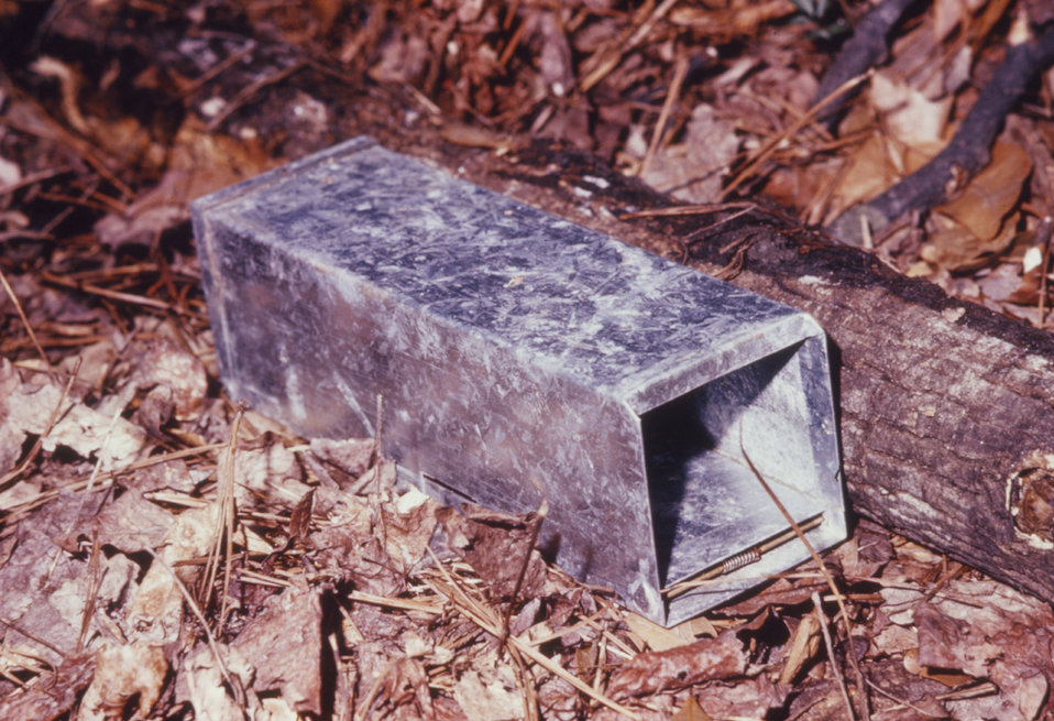 This is an aluminum Sherman Trap�, which was used to capture animals live during a 1974 arboviral study.