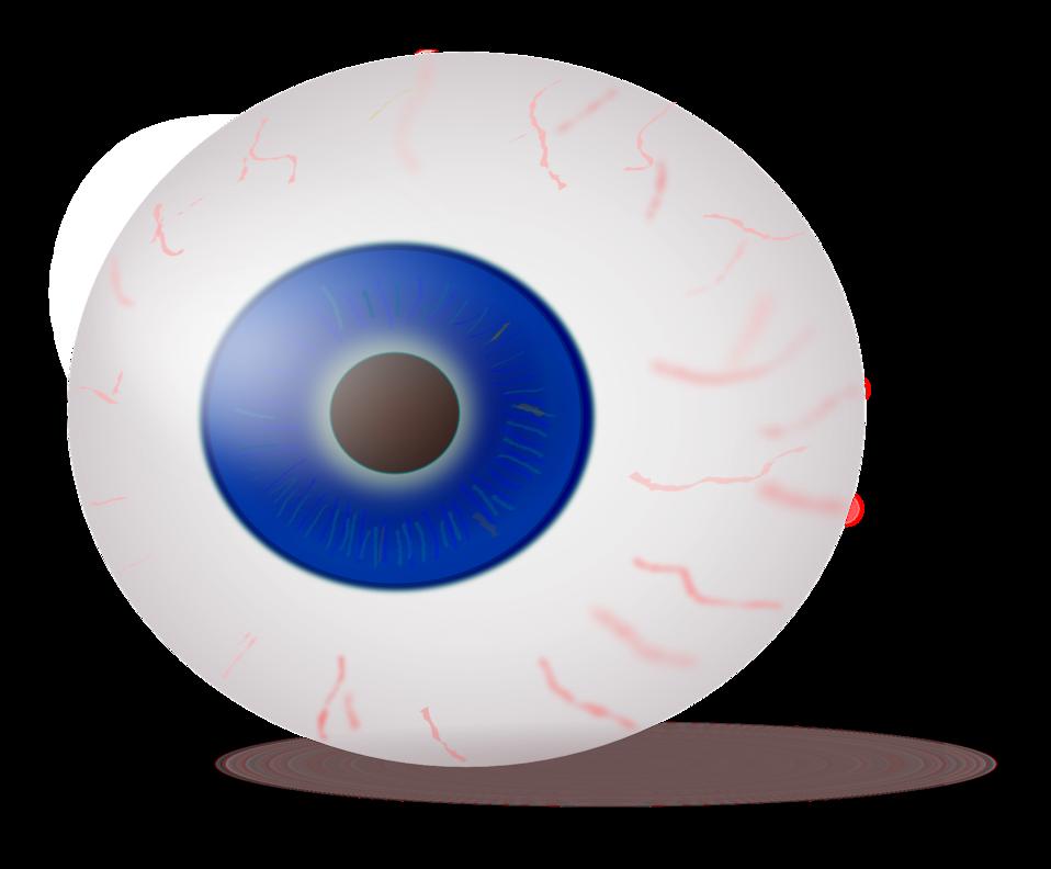 Eyeball blue realistic