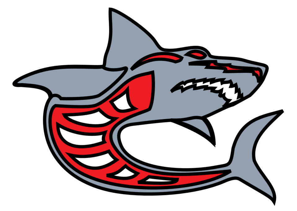 shark grey red by ashed