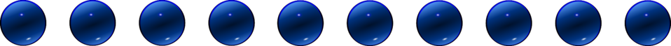 Glass Blue Ball Decore