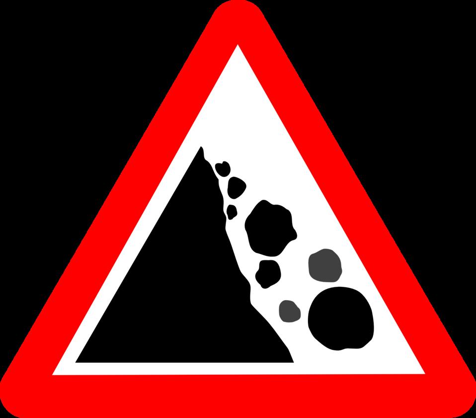 Roadsign Falling rocks