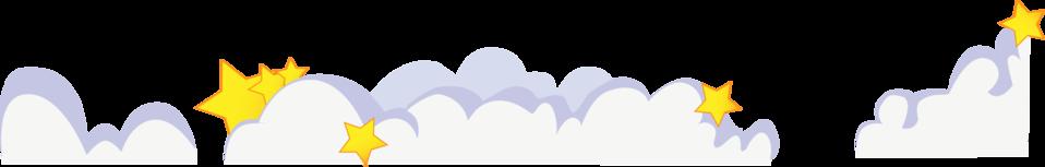 Cute cartoon clouds with stars