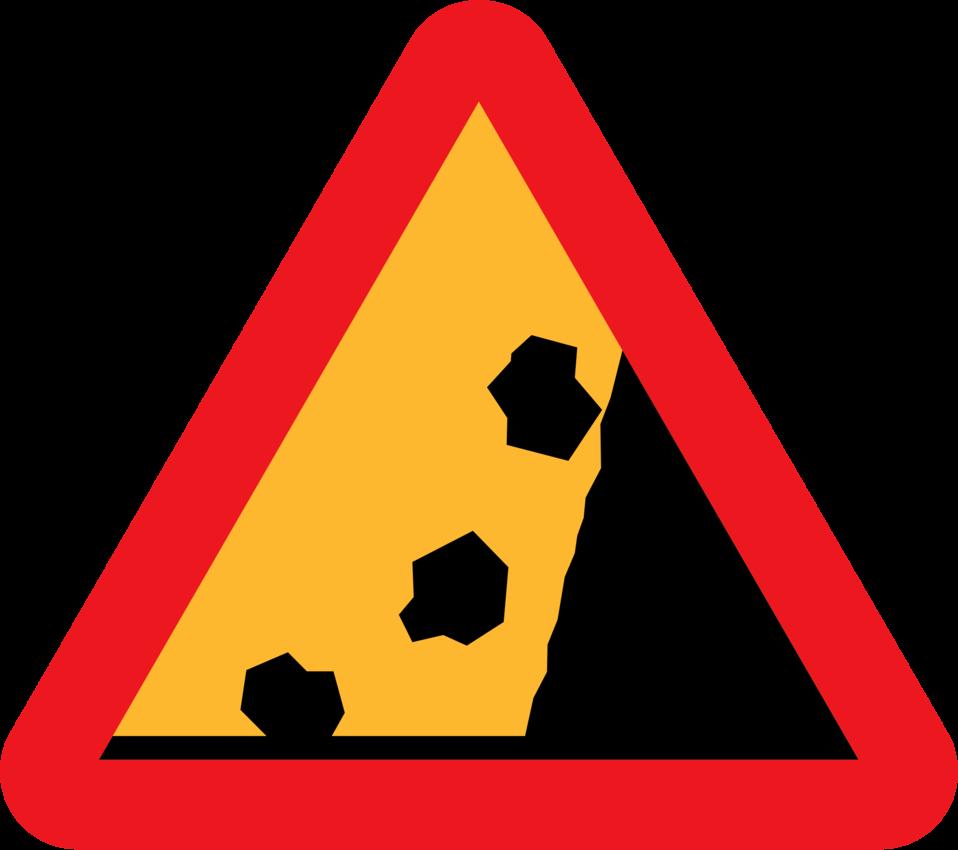 Falling Rocks from RHS roadsign