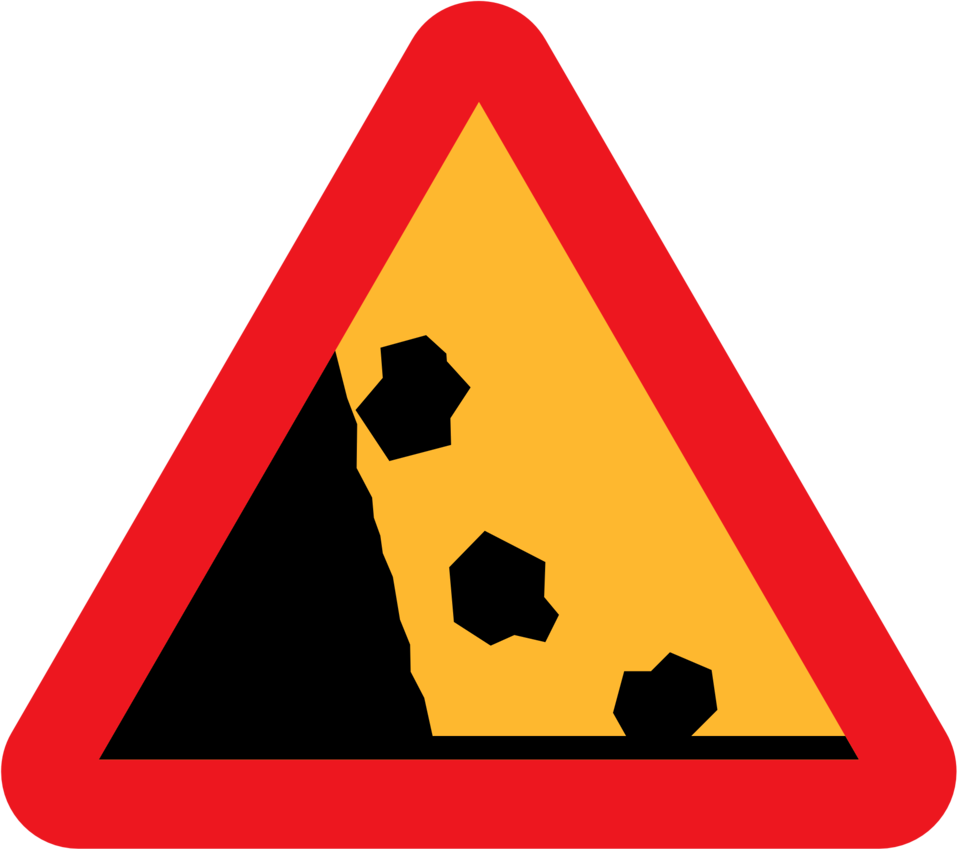 Falling Rocks from the LHS roadsign