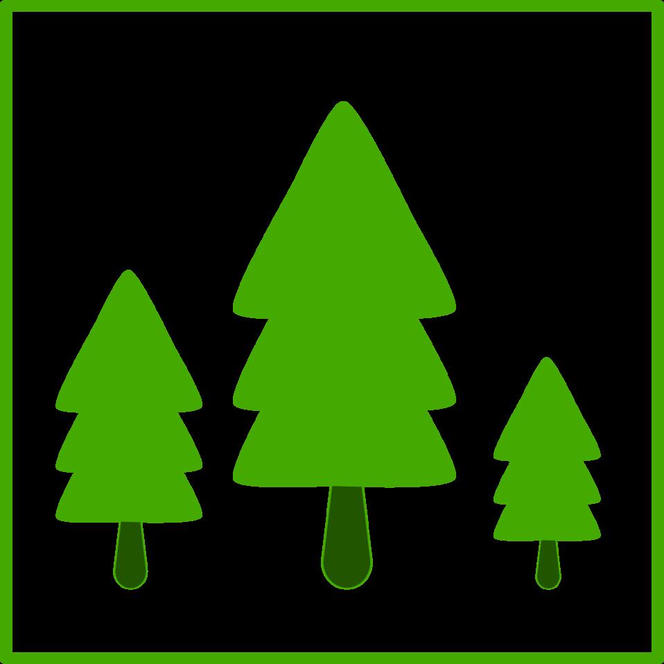 eco green trees icon