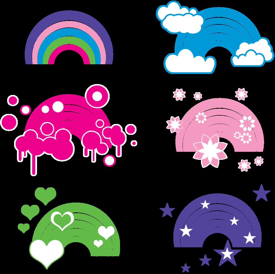 Rainbow embellishments