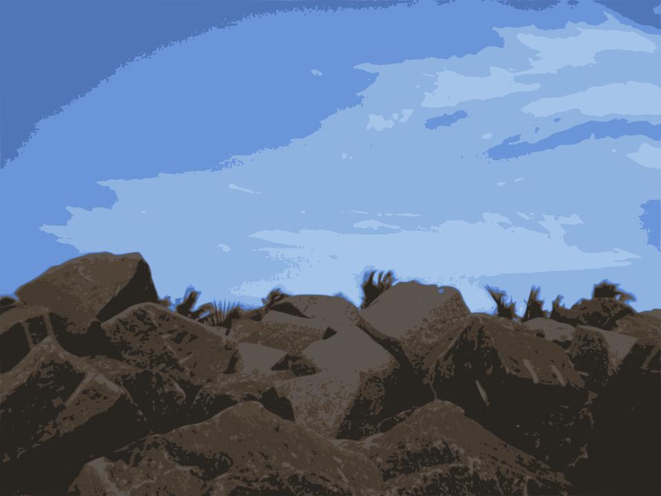 Sky-on-Rock