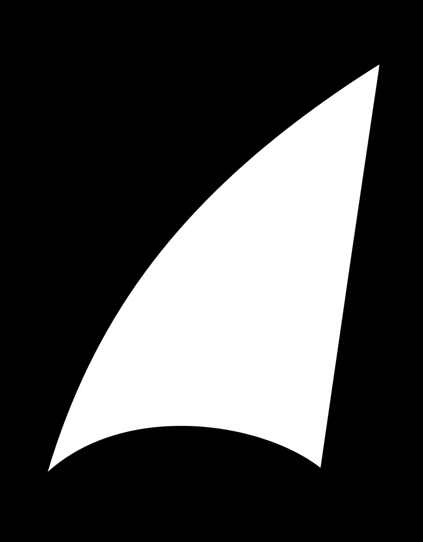 Shark fin sail