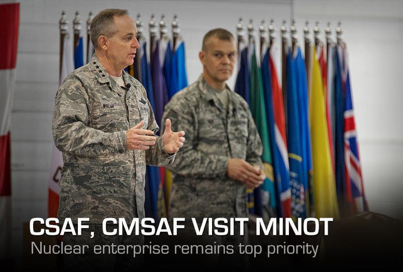 CSAF, CMSAF visit Minot