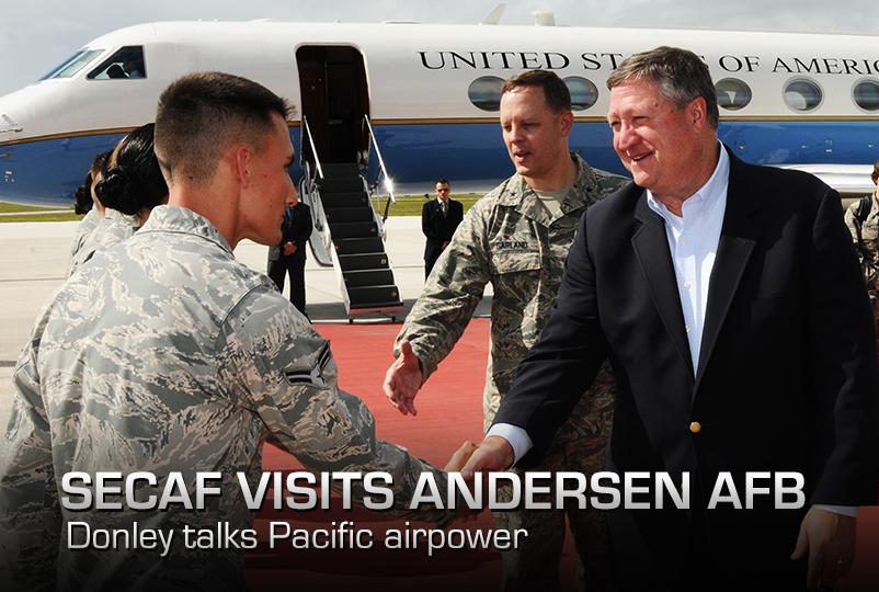 SecAF visits Andersen AFB